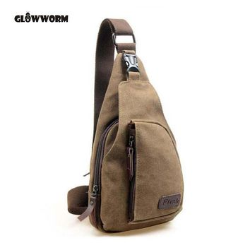 GLOWWORM 2017 New Fashion Man Shoulder Bag Men Canvas Messenger Bags Casual Travel Military Messenger Bag sac a main CX377