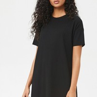 Ribbed Knit T-Shirt Dress - Women - 2000273375 - Forever 21 Canada English
