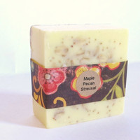 Maple Pecan Streusal Soap: handmade soap, stocking stuffer, soap stuffer, Christmas gift, Holiday soap