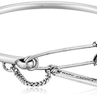 Marc Jacobs Charms Safety Pin Pave Hinge Cuff Bracelet