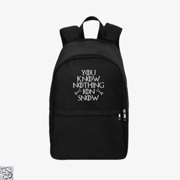 Adult You Know Nothing Jon Snow, Game of Thrones Backpack