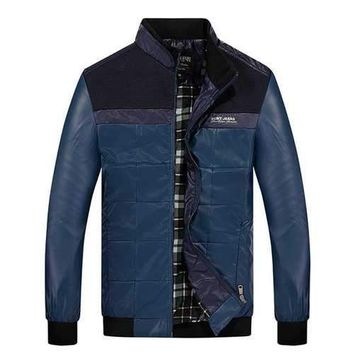Patch Faux Leather Jacket