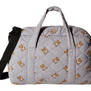 Moschino Kids Jersey Quilted Diaper Bag w/ All Over Teddy Print