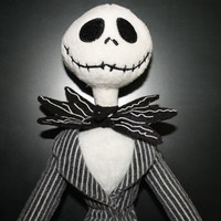 Jack Skellington Christmas Plush Doll Disney Nightmare Before Christmas Sale