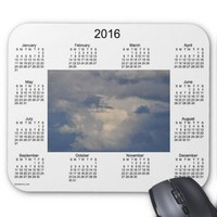 2016 Cloud Calendar by Janz Mouse Pad