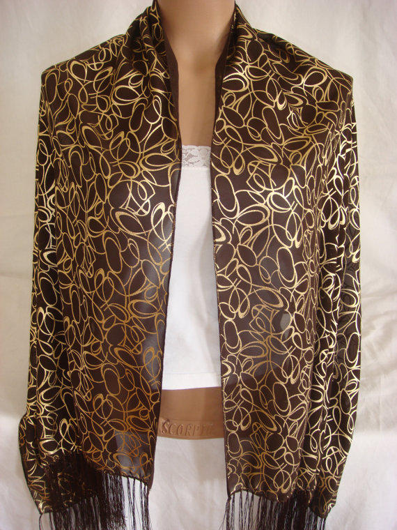 Custom Designed Gold Patterned High Quality Fabric by Arzus