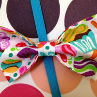 Cupcakes & Candy Hair Bow by PocketTeesandThings on Etsy