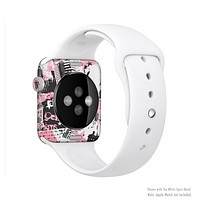 The Pink & Black Abstract Fashion Poster Full-Body Skin Set for the Apple Watch