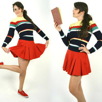 Vintage Red Pleated Tennis Skirt by GoodTimeIsland on Etsy