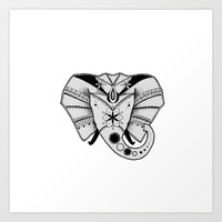 Mandala Elephant Art Print by BlendByEli
