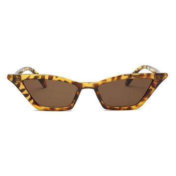 Retro Kitty Cat Sunglasses - Tortoise