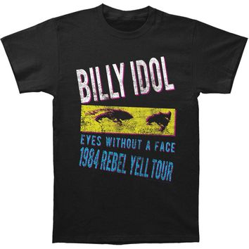 Billy Idol Men's  Rebel Yell Tour '84 Slim Fit T-shirt Black