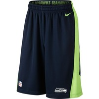 Nike Seattle Seahawks College Navy Fly XL 2.0 Performance Shorts