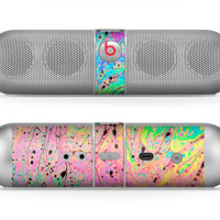 The Neon Color Fushion with Black splatters Beats by Dre Pill Bluetooth Speaker Skin