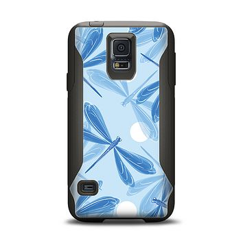 The Blue DragonFly Samsung Galaxy S5 Otterbox Commuter Case Skin Set