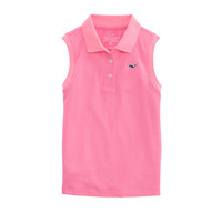 Girls Sleeveless Performance Polo