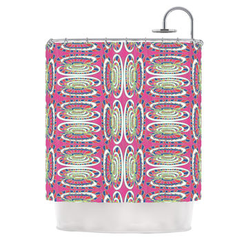 "Miranda Mol ""Bohemian Wild"" Pink Abstract Shower Curtain"