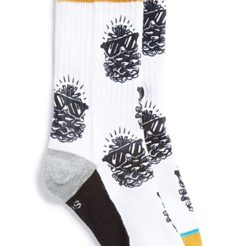 Boy's Stance 'Pinsol' Crew Socks, Size 2.5-5.5 - White