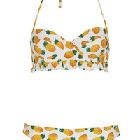 White Pineapple Bikini - Bikini Sets - Swimwear - Clothing - Topshop