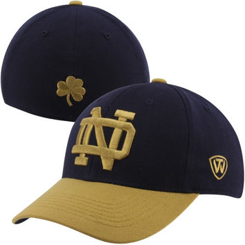 Top of the World Notre Dame Fighting Irish Receiver 1Fit Flex Hat – Navy Blue/Gold