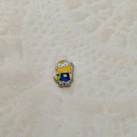 Floating charms for living locket  Despicable me inspired Minion