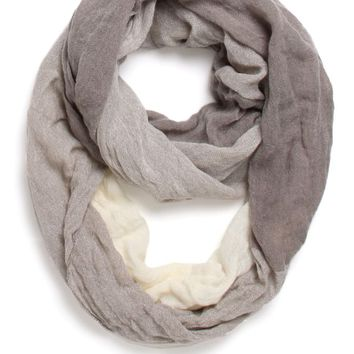 With Love From CA Colorblocked Infinity Scarf - Womens Scarves - Gray - NOSZ