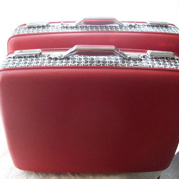 Two American Tourister Vintage Luggage Set with Pac by AspenDreams