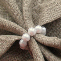 Pearl Napkin Rings 8pcs Napkin Ring Holders Napkin Rings Wedding Dining Room Natural Linen Prewashed Linen Napkin Holder Wedding Napkins
