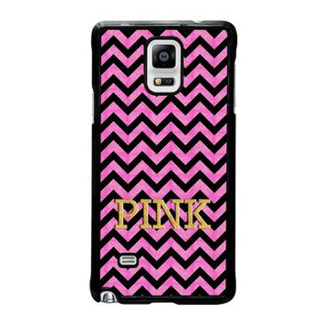 VICTORIA'S SECRET PINK CHEVRON Samsung Galaxy Note 4 Case Cover