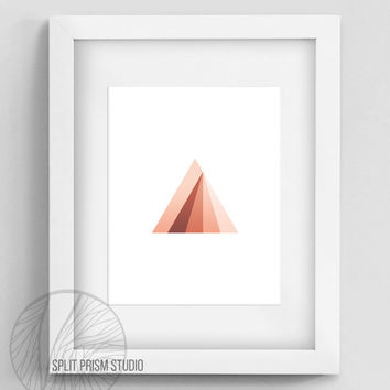 Original Art Print, Instant Download, Print, Art, Digital File, Wall Art, Geometric, Graphic Print, Triangle, Triangle Print, Rainbow, Color
