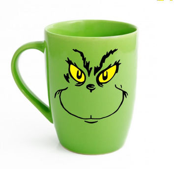 The Grinch - Grinch Coffee Cup - Grinch Mug - Christmas Mug - Grinch Cup