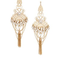 ASOS Filigree Chain Chandelier Earrings