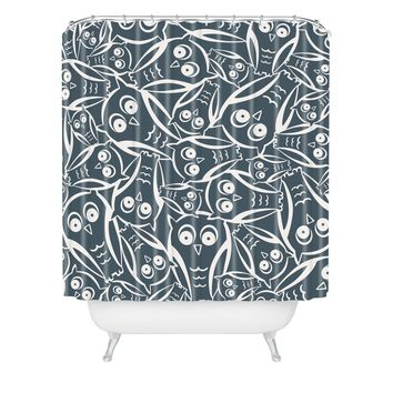 Heather Dutton Night Owl Shower Curtain