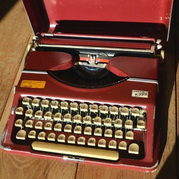 Christmas SALE! - Working Typewriter - Red Adler Tippa - Fully Serviced