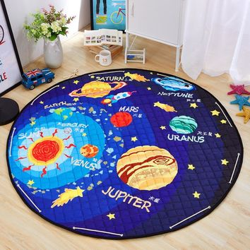 150CM Cotton Baby Play Mat Kids Crawling Mat Children Carpet Rugs Baby Toys Mat Kids Toys Sundries Pouch Round Storage Bag PX26