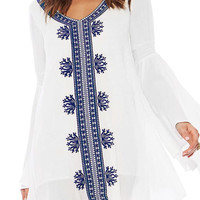 Cupshe Brighten Day Embroidered Cover-up