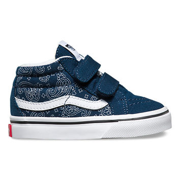 Toddlers Bandana Sk8-Mid Reissue V | Shop Toddler Shoes at Vans