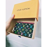 Louis Vuitton LV Stylish Household Zipper Key Pouch Clutch Bag Coin Purse Wristlet