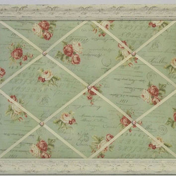 Amelia Rose fabric Shabby Chic Distressed Framed Memo Board