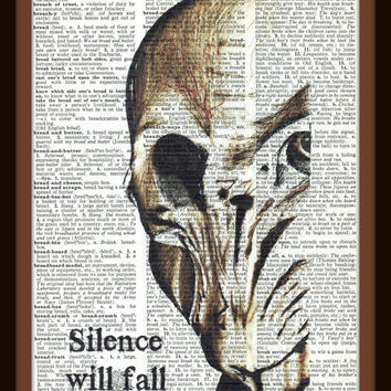 Buy Any 2 Prints get 1 Free The Silence Doctor Who Vintage Dictionary Art