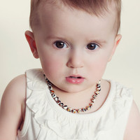 Polished Baltic Amber Teething Necklace