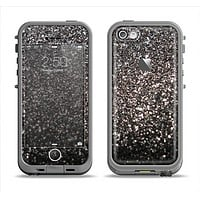 The Black Unfocused Sparkle Apple iPhone 5c LifeProof Fre Case Skin Set