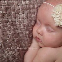 10 Single Flower Baby Headbands, Newborn Headband, Baby accessories, Photography Props, Vintage Couture