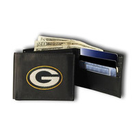 Green Bay Packers NFL Embroidered Billfold Wallet