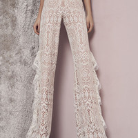 Alexis Azizi Pants in Ivory Lace