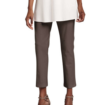 Women's Washable Stretch-Crepe Ankle Pants, Petite - Eileen Fisher - Deep rye
