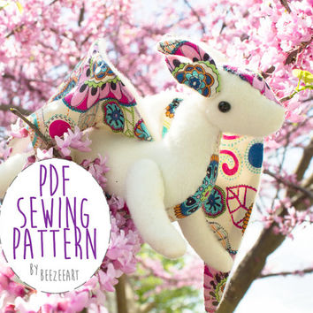 Jointed Dragon Plush Stuffed Animal Sewing Pattern