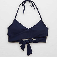 Aerie Wraparound True Scoop Bikini Top , Navy