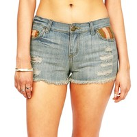 Vintage Weave Denim Shorts