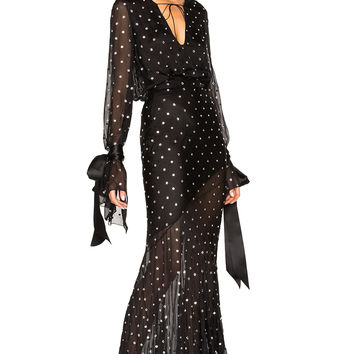 Alexandre Vauthier Embellished Plunging Gown in Black | FWRD